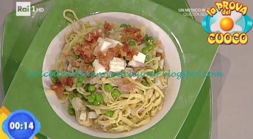 Tagliolini alla gricia di spigola con piselli ricetta Salvatori da Prova del Cuoco