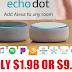 Amazon Echo Only $1.98 OR $9.97 (Reg $49.99) - AMAZON PRIME MEMBERS ONLY!