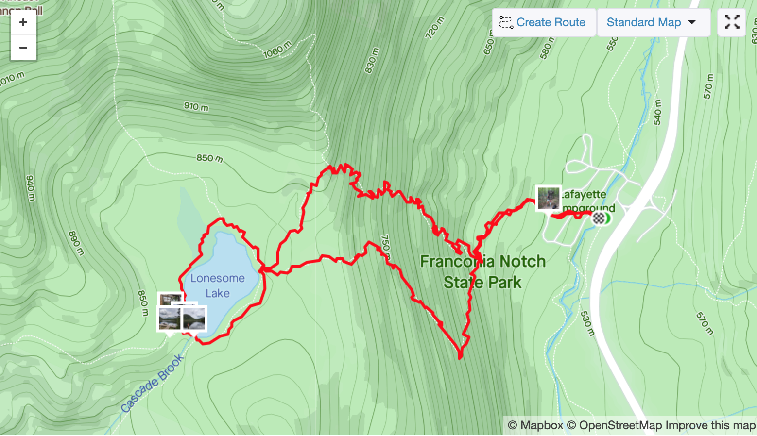 Lonesome Lake Trail Map
