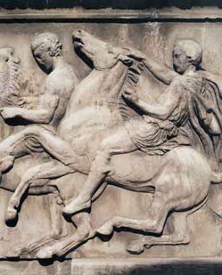 Ιππείς από τη δυτική πλευρά της ζωφόρου του Παρθενώνα