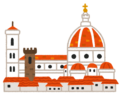 フィレンツェの大聖堂のイラスト