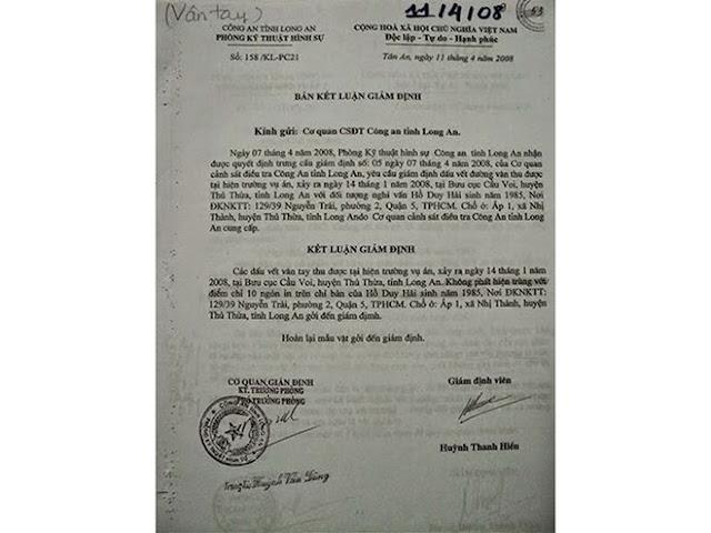 Kỳ án tử tù Hồ Duy Hải: Mua vật chứng ở chợ đưa vào hồ sơ vụ án