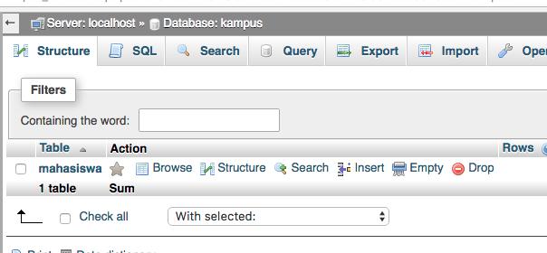 cara membuat koneksi database ke mysql