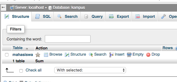 cara membuat koneksi php dengan database mysql