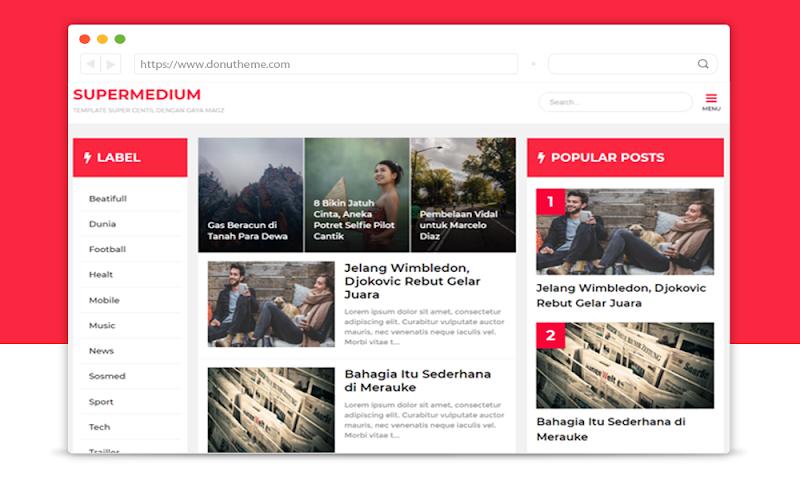 Supermedium Template Magz Style - Responsive Blogger Template
