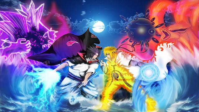gambar naruto vs sasuke keren