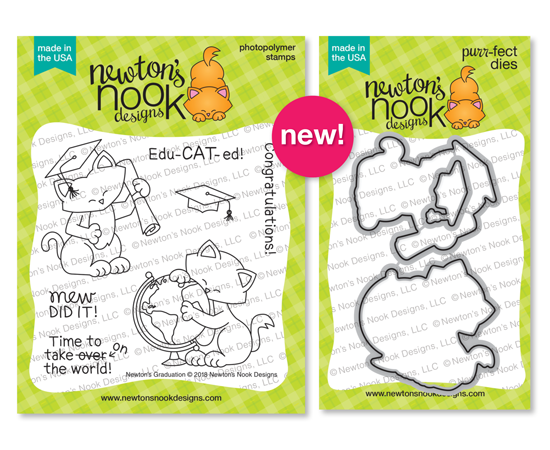 Newton's Graduation Stamp Set by Newton's Nook Designs #newtonsnook #handmade