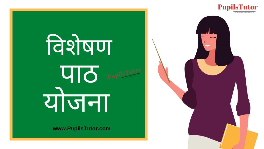 Visheshan Lesson Plan in Hindi for B.Ed/DELED | विशेषण पाठ योजना हिंदी व्याकरण | Visheshan Lesson Plan