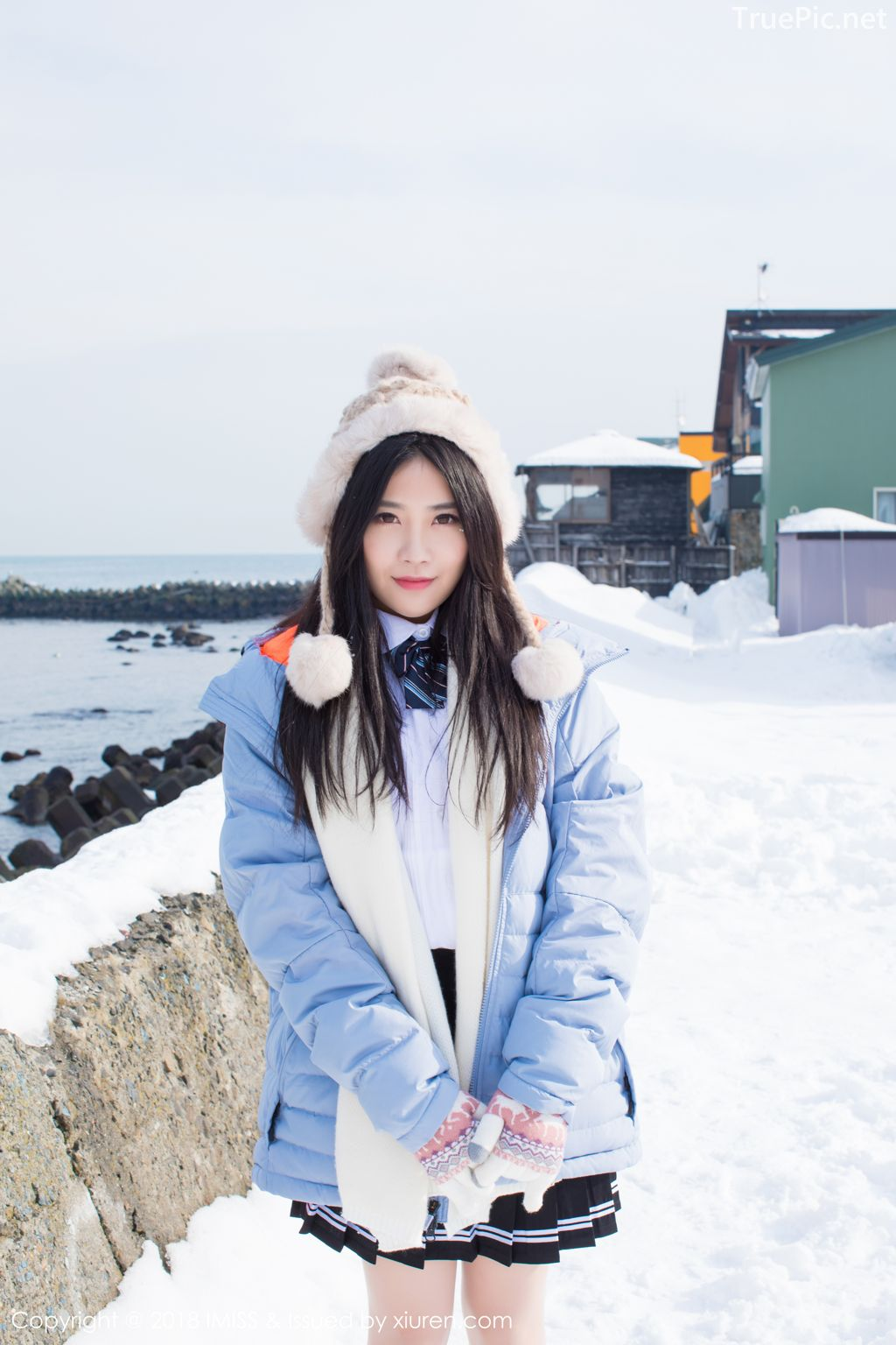 Image-IMISS-Vol.262-Sabrina model–Xu-Nuo-许诺-Sparkling-White-Snow-TruePic.net- Picture-5