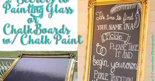 2 SECRETS TO PAINTING GLASS OR CHALKBOARDS WITH CHALK PAINT