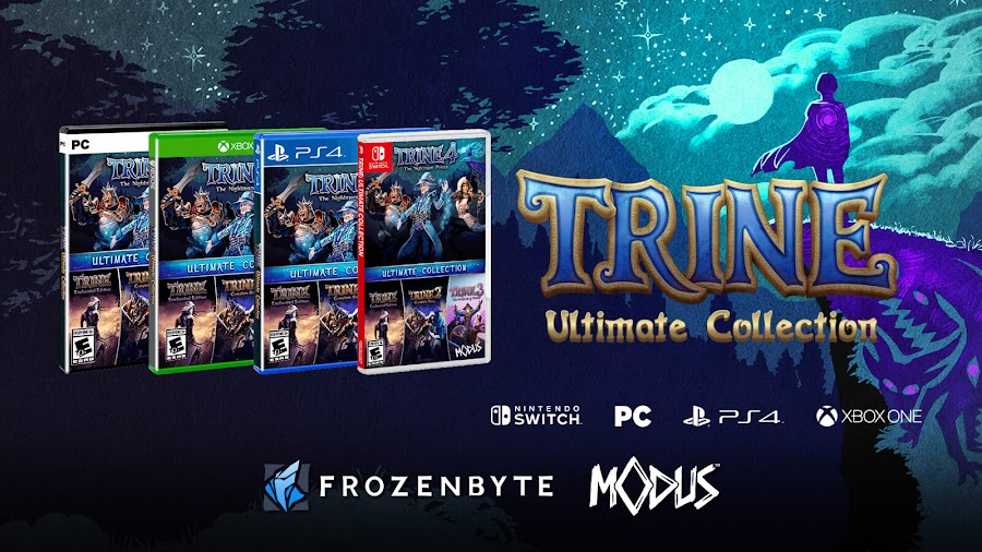 trine ultimate collection fall 2019 october 8 switch pc ps4 xbox one frozenbyte modus games