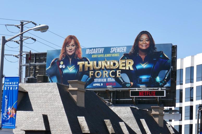 Thunder Force film billboard