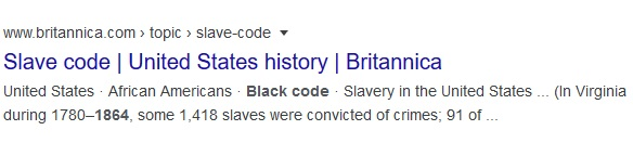 slave code and black code