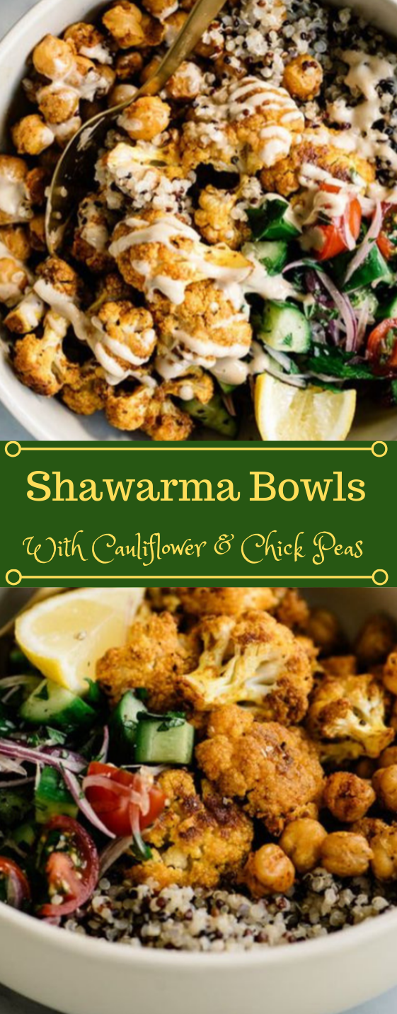 CAULIFLOWER SHAWARMA BUDDHA BOWL #cauliflower #vegan #bowl #wholw30 #recipe