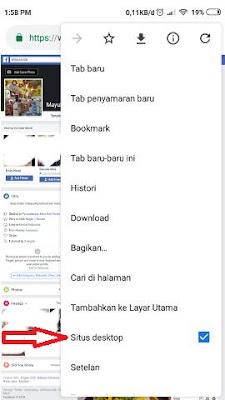 Buka Facebook di Android Dengan Tampilan Komputer
