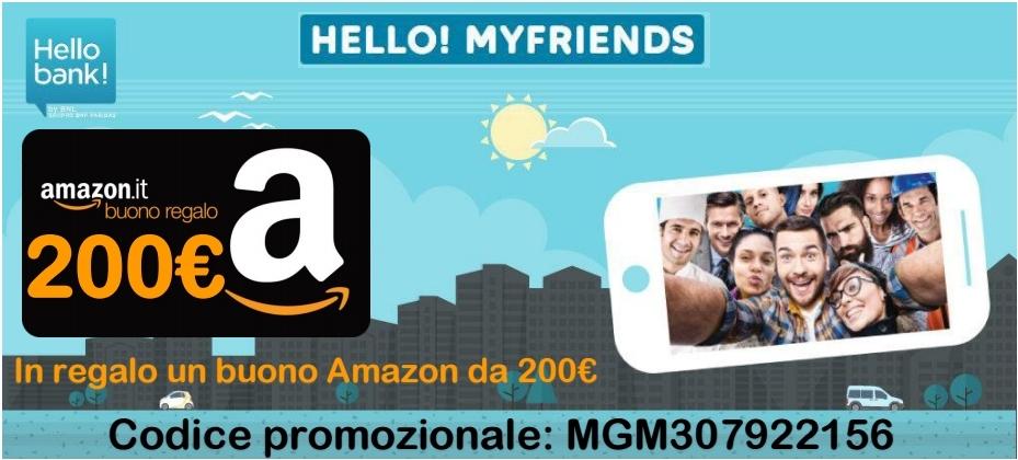 Codice Promozionale Buono Amazon Hello Bank