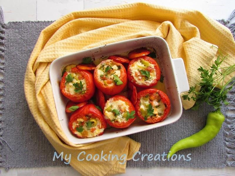 Пълнени домати с яйца и сирене * Pomodori ripieni con uova e formaggio