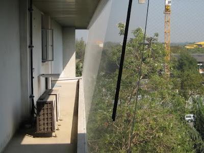 กันนก ตาข่ายกันนก ตึกคณะสถาปัตย์ มหาวิทยาลัยมหิดล3