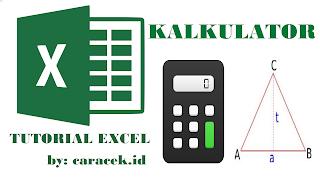 Excel Kalkulator Hitung Luas dan Keliling Segitiga