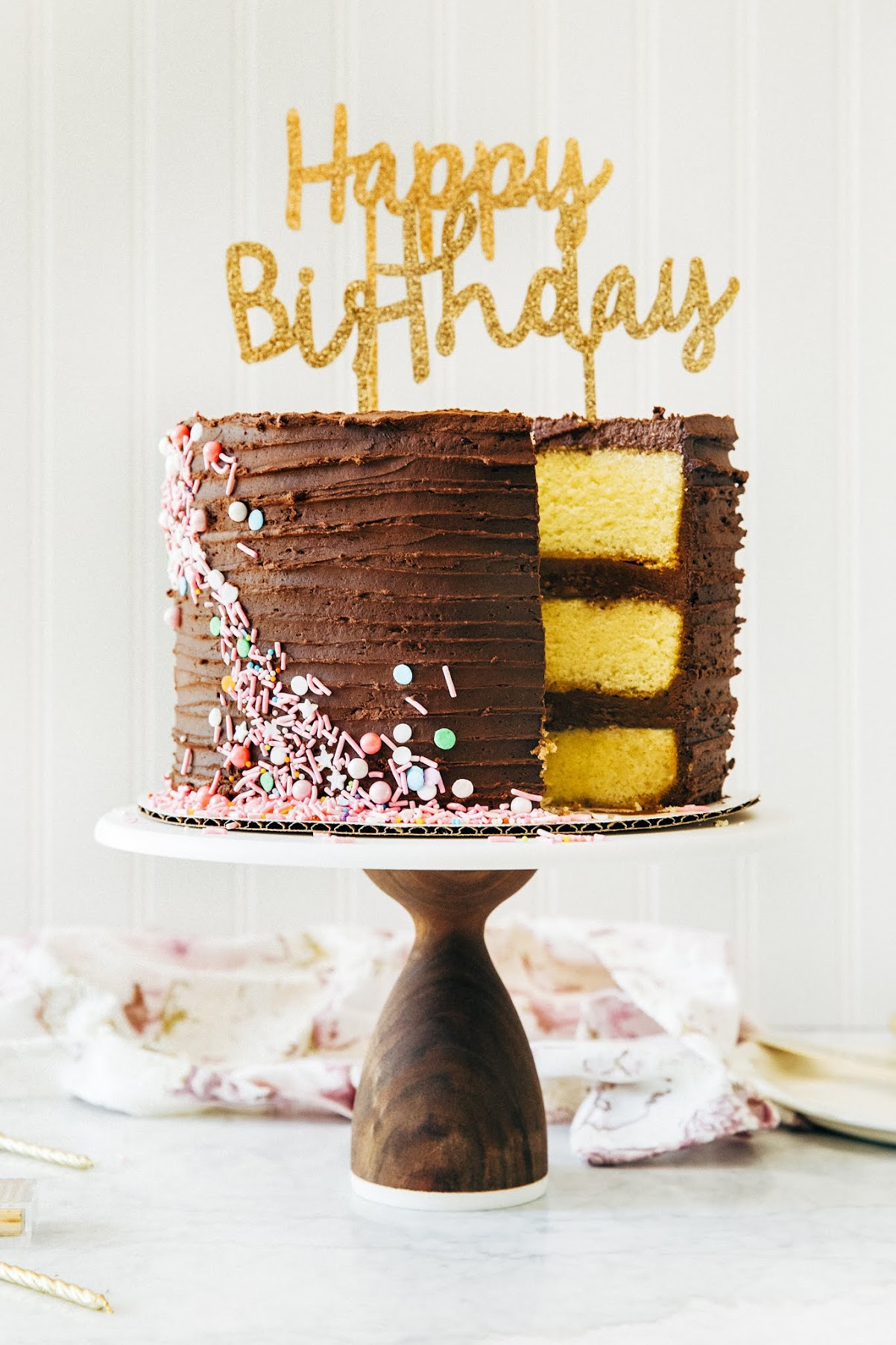 old fashioned yellow birthday cake | hummingbird high || a desserts ...
