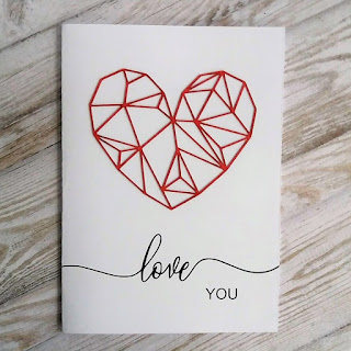 Valentine's Day card with a Silhouette cut file