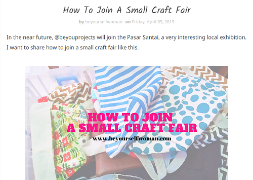 small craft fair
