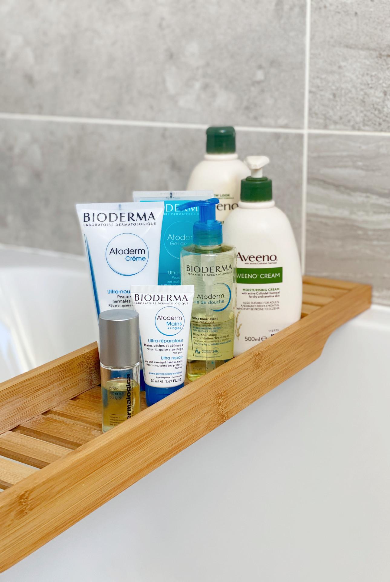 accutane body care products dry skin aveeno bioderma