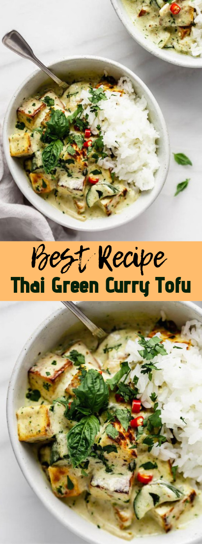 Thai Green Curry Tofu #vegan #recipevegetarian