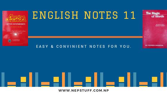 Grade 11 English Notes 1