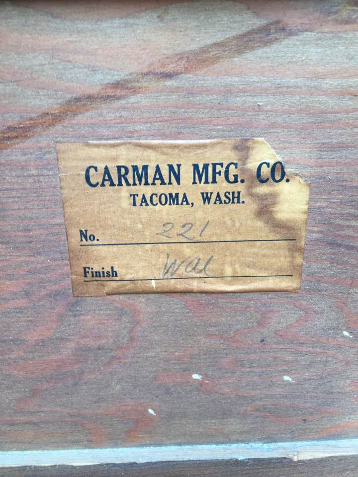 Carman Manufacturing Company, Tacoma, Washington.
