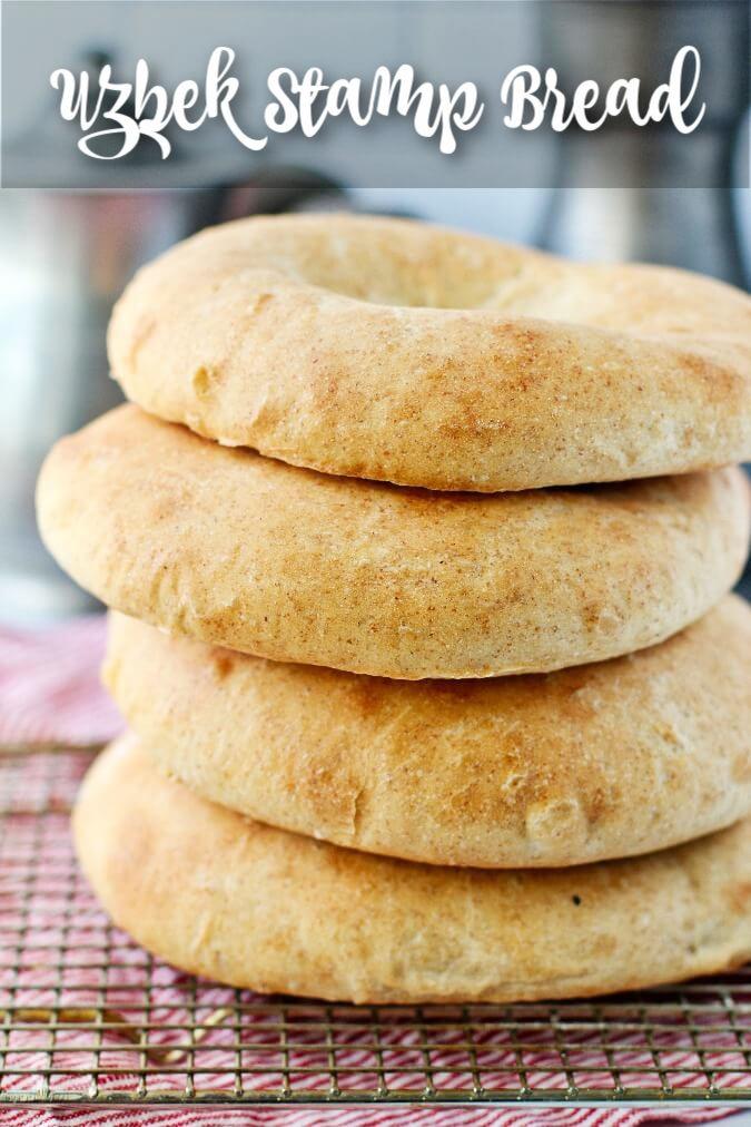 Uzbek Stamped Bread (Non/Nan) stacked