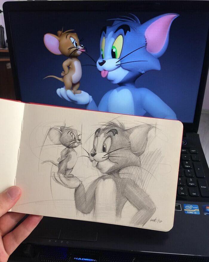 10-Tom-and-Jerry-Samet-Turkan-www-designstack-co