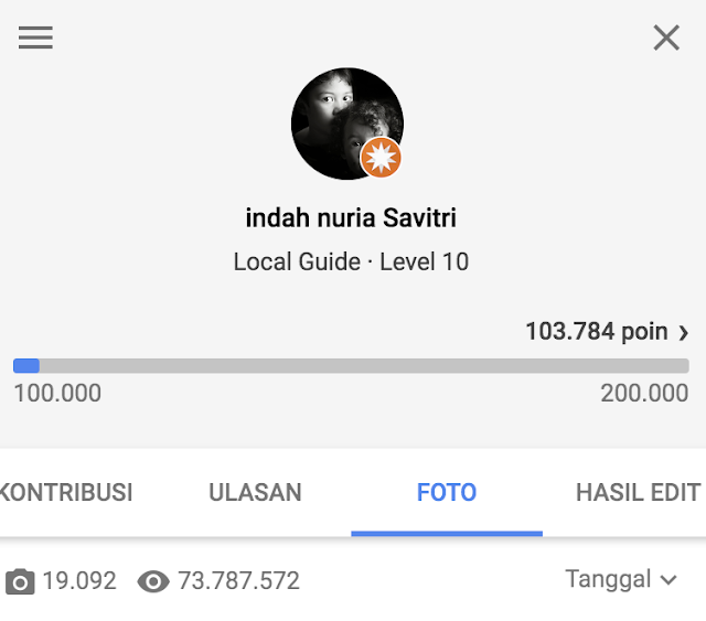 Indah Nuria Savitri Google Local Guide Level 10