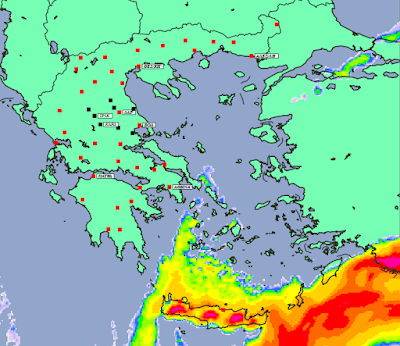 2 - Πρόγνωση Ελλάδας -Θεσσαλίας 3-5/1/2020