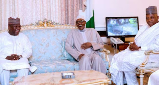 Buhari Receives 7 Governors In UK