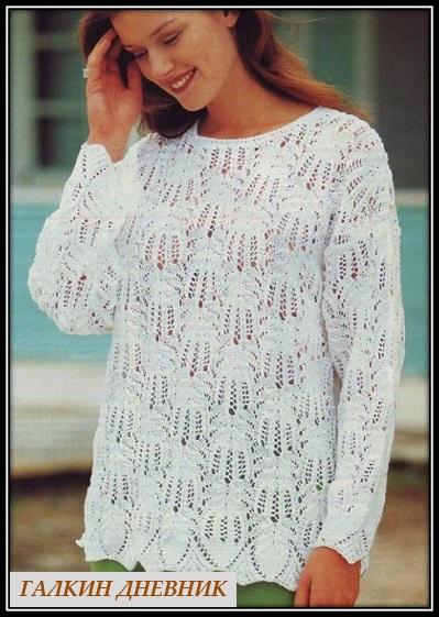 pulover dlya polnih dam