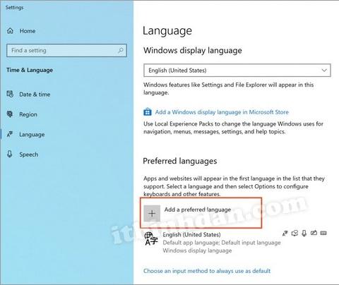 Cài đặt bộ gõ Vietnamese cho Windows 10