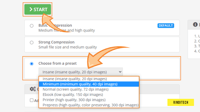 Cara kompres file PDF agar sangat kecil ukurannya
