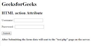 penggunaan atribut action pada html