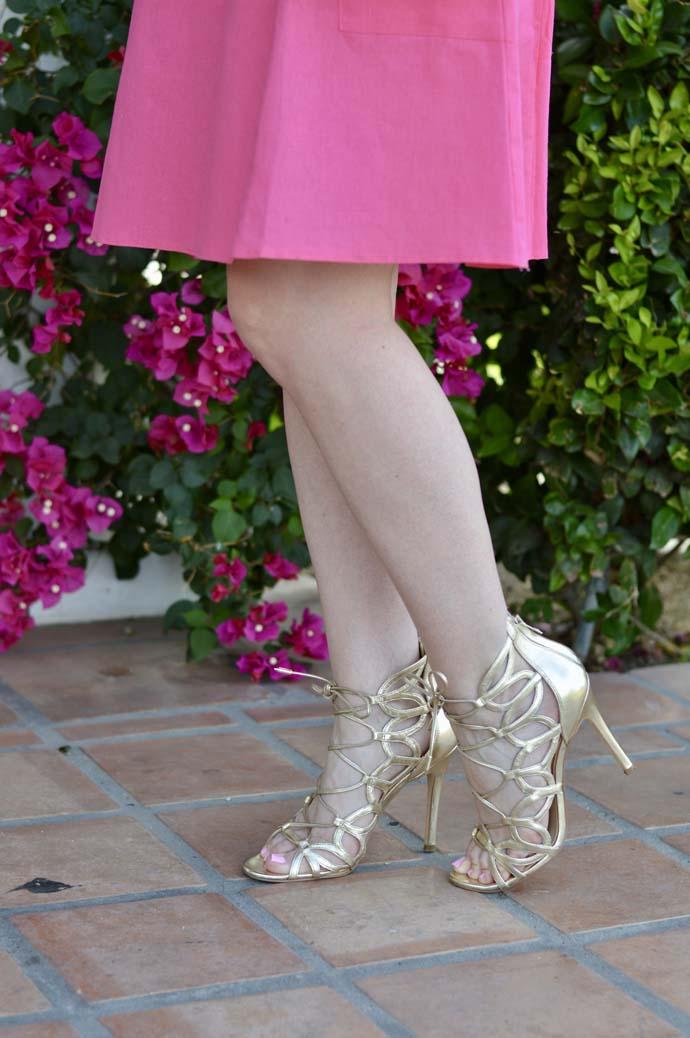 gold lace up dress sandals