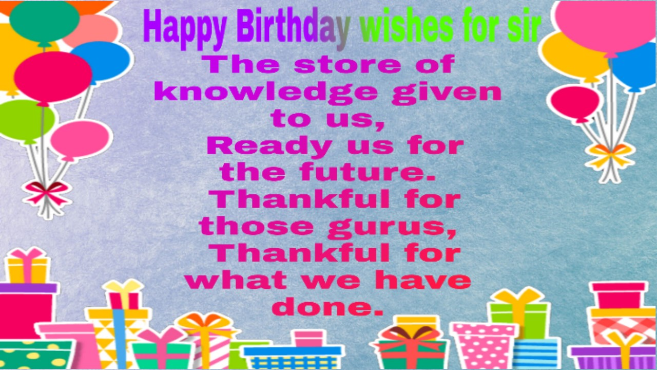 Happy Birthday Sir Wishes Images Free Hd Download
