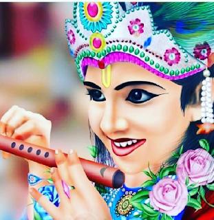 Lord Krishna Giving Cute Smile