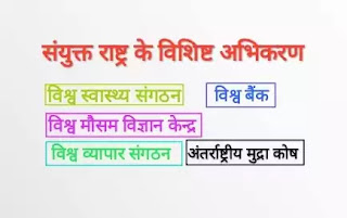 संयुक्त राष्ट्र के विशिष्ट अभिकरण | United Nations Specialized Agency