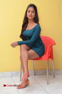 Telugu Actress Prasanthi Stills in Green Short Dress at Swachh Hyderabad Cricket Press Meet  0080.JPG