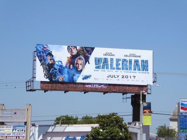 Valerian film billboard