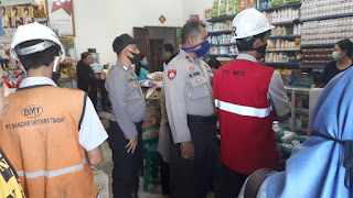 Sat Binmas Polres Pelabuhan Makassar Beri Imbauan Pencegahan Covid-19