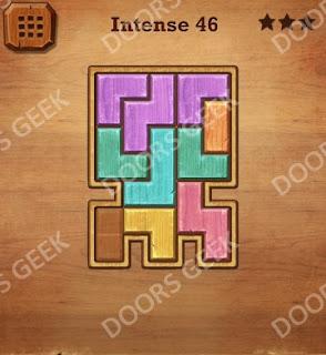 Cheats, Solutions, Walkthrough for Wood Block Puzzle Intense Level 46
