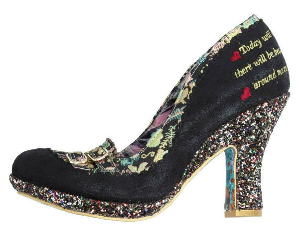 Irregular Choice midnight steel black