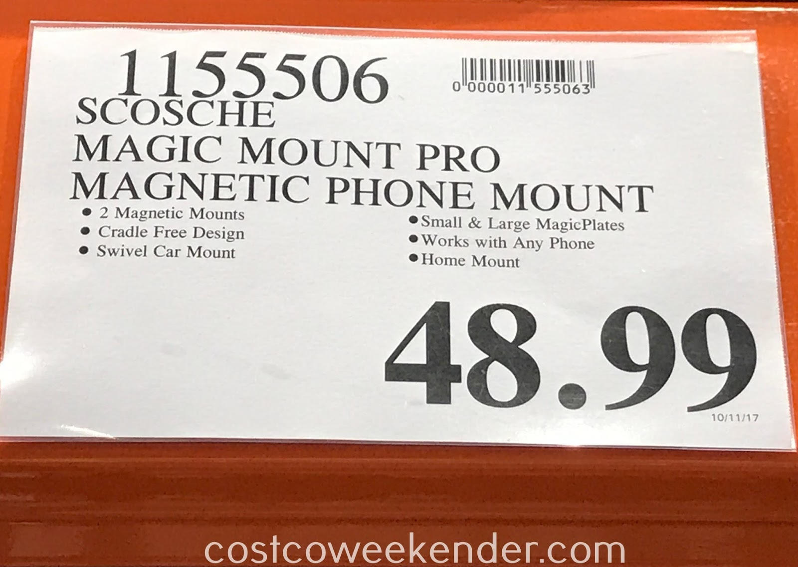 Deal for the Scosche Magic Mount Pro-Pack Magnetic Mounting System at Costco