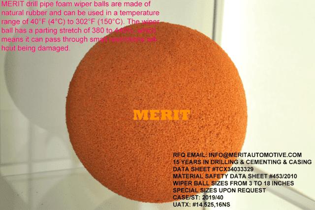 Cementation Tubing Systems Foam Wiper Balls MeritAutomotive